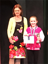 Congratulations to Eleanor for performing all her dance solos so beautifully and winning GOLD for her Character solo and being presented with he Character Trophy xxx