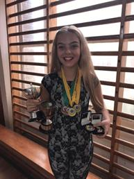 Congratulations to Ruby for wining 4 Gold and 2 Silver Medals and also winning the Character and Modern solo Trophies, Great results xxx