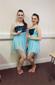 Congratulations to Laura and Hannah for winning SILVER Medals for their Modern duet xxx